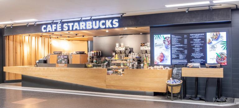 Photographe commercial, centre d'achat Gare Centrale Montréal Café Starbucks