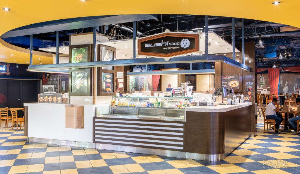 Photographe commercial, centre d'achat Gare Centrale Montréal Sushi Shop