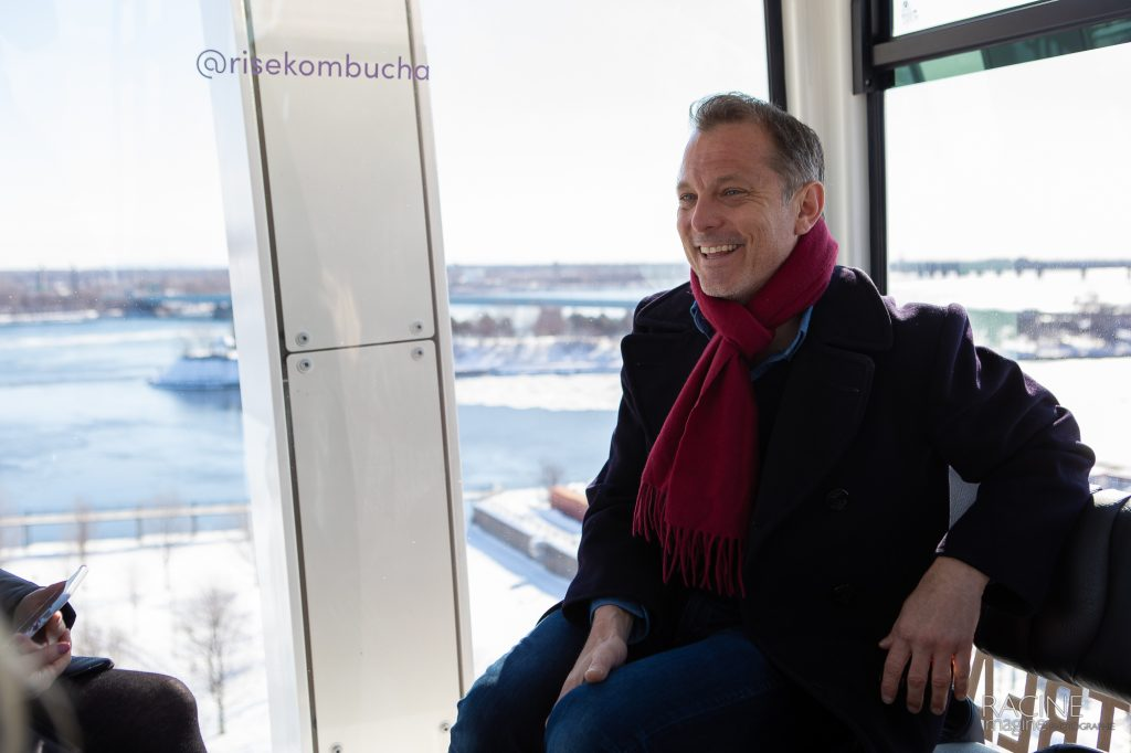 event photographer Montreal Old Port Grande Roue Rise Kombucha lancement nouvelles saveurs